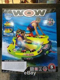 1 2 3 Person Tow Tube Inflatable Towable WOW Zelda Raft Lake Water Float