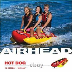 1-3 Rider Inflatable Hot Dog Towable Banana Boat Water Sport Ski Tube Boating