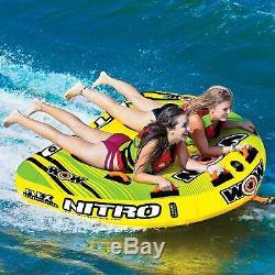 2-Person Combo Deck Tube Water Beach Lake Towable Tubing Raft Float Boat Ski