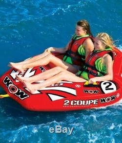 2 Person Coupe Cockpit Towable Water Tubing Inflatable Pool Lake Water Sports