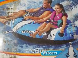2 Person Sit and Ride Towable Water Tube For Pool and Lake