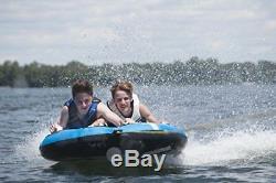 2 Person Towable Inflatable Tube Ski Fun Float Water Sport Boat Raft Tubing Blue