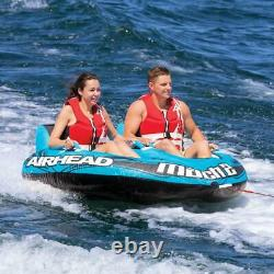 2-Rider Inflatable Towable Tube Float Water Sports Ski Boat Summer Beach Lake