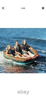 3 Person Towable Float Water Sports Boat Inner Tube Inflatable Tow Tubing