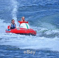 3 Person Towable Tube Inflatable Water Raft Heavy Duty Lake Ocean Rider Rave