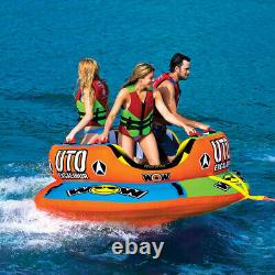 3 Rider Towable Water Ski Tube WOW Watersports Towable 3 Person Boat Tube