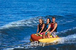 3 Sportsstuff Hot Dog Inflatable Towable Person Boat Water Tube 3060 Hd Lake 53