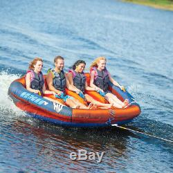 4 Person Towable Raft Float Water Sports Boat Inner Tube Inflatable Tow Tubing
