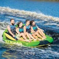 4 Person Towable Raft Water Float Sports Boat Inner Tube Inflatable Tow Tubing