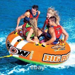 4 Rider Towable Water Ski Tube WOW Watersports Big Boat Tube Inflatable