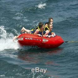 4-Rider Tubing Raft Rave Sports Mega Mambo Sleek Fast Water Towable Lake