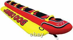 5 Rider Long Towable Inner Tube Towing Water Sports Inflatable Group Fun Hot Dog