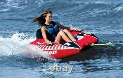 AIRHEAD AHVI-F1 Viper 1 Single Rider Cockpit Inflatable Lake Water Towable Tube