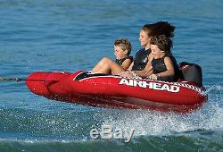 AIRHEAD AHVI-F3 Viper 3 Triple Rider Cockpit Inflatable Towable Lake Water Tube
