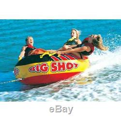 AIRHEAD BIG SHOT Inflatable Air Cushioned 4-Person Towable Water Fun Tube Ride