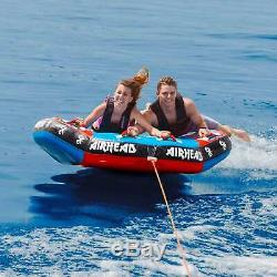 AIRHEAD Griffin II Inflatable Air Cushioned 2-Person Towable Tube Water Ride