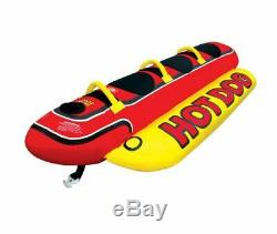 AIRHEAD HD-3 3 Person Hot Dog Towable Inner Tube Inflatable Water Skiing Lake