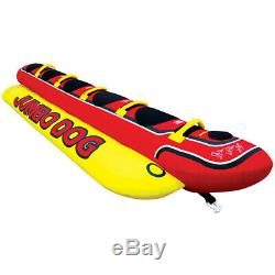 AIRHEAD Jumbo Dog Towable 5 Person Rider Water Tube Inflatable Boat Tow Lake