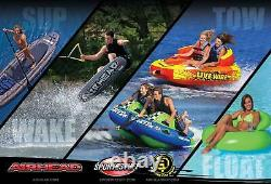 AIRHEAD Live Wire 3 Inflatable 1-3 Rider Boat Towable Lake Water Tube (Open Box)