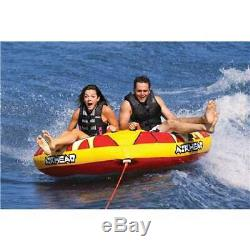 AIRHEAD Turbo Blast Inflatable Double Rider Towable Boat Water Tube (Open Box)
