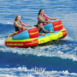 Airhead 1 3 Rider Challenger Inflatable Towable Boating Water Sports Tube