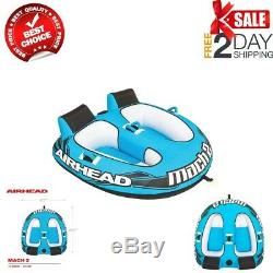 Airhead 2 Person Towable Tube Boating Inflatable Lake Heavy Duty Water Sports