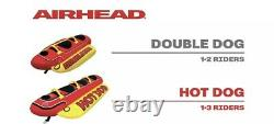 Airhead 3 Person Hot Dog Inflatable Towable Tube Float Raft Water Ski Boat float