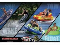 Airhead 5 Person Inflatable Kids Adult Jumbo Dog Water Towable Floating Tube New