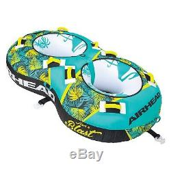 Airhead AHBL-22 Blast Inflatable Towable Water Tube 2 Person Boat Toy