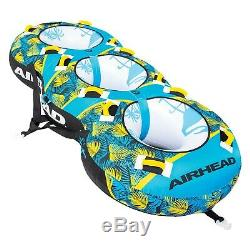 Airhead AHBL-32 Inflatable Towable Tube Blast 3 Rider Water Tube Boat Toy