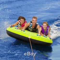 Airhead AHCS-75 Comfort Shell Deck Water Tube 75in. Towable Inflatable 3 Riders
