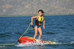 Airhead AHEZ-300 EZ Wake Trainer Inflatable Towable Wakeboard Water Tube 1 Rider