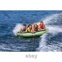 Airhead AHGF-4 G-Force 4 Towable Inflatable Water Tube 4 Riders Kwik Connect