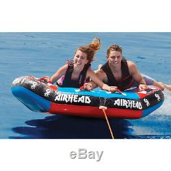 Airhead AHGR-02 Griffin 2 Water Boat Tube Towable 2 Riders Inflatable Toy