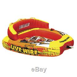 Airhead AHLW-2 Live Wire 2 Rider Towable Inflatable Riding Boat Tow Water Tube