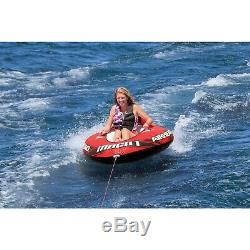 Airhead AHM1-2 Mach 1 Towable Inflatable Water Tube 1 Person PVC Boat Toy Lake