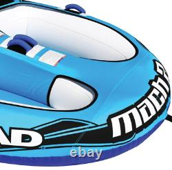 Airhead AHM2-2 Mach 2 Inflatable 2 Rider Cockpit Lake Boating Water Towable Tube
