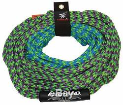 Airhead AHM2-2 Mach 2 Inflatable 2 Rider Water Towable Tube with 50-60' Tow Rope