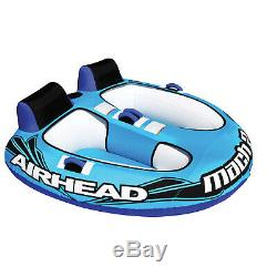 Airhead AHM2-2 Mach 2 Water Tube Cockpit 2 Person Towable Inflatable Boat
