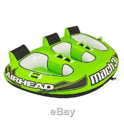 Airhead AHM3-1 Mach 3 Towable Inflatable Water Tube 3 Riders PVC Boat Toy Lake