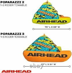 Airhead AHPZ-1752 Poparazzi 2 Person Inflatable Towable Water Lake Boating Tube
