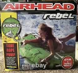 Airhead AHRE-12 Single Rider Rebel Towable Boat Water Tube Rope Pump Kit