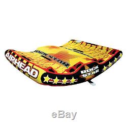 Airhead AHRS-3 Rock Star Inflatable 3 Rider Water Towable Water Boat Tube
