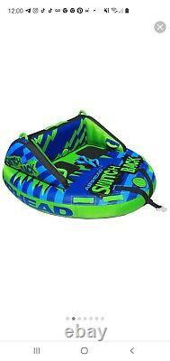 Airhead AHSB-4 Switchback Inflatable 4 Rider Water Toy Towable Tube Boat