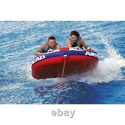 Airhead AHSH-2 Shockwave 2 Water Boat Tube Inflatable 2 Riders Towable Marine
