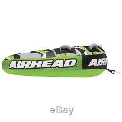 Airhead AHSSL-22 Slice 2 Person Towable Inflatable Water Round Tube Boat Toy