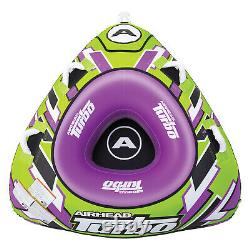 Airhead AHTB-11 Turbo Blast Towable Tube 1 Person Inflatable Water Boat Toy