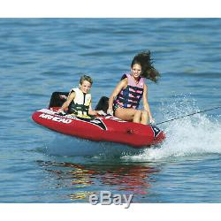 Airhead AHVI-F2 Viper 2 Towable Water Tube Cockpit 2 Rider Inflatable Red
