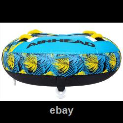 Airhead BLAST 3 Inflatable Open Top Towable Water Tube, Tropical Blue (Used)