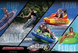 Airhead Big Shot Quadruple Rider Boat Lake Water Towable Open Top Tube (2 Pack)